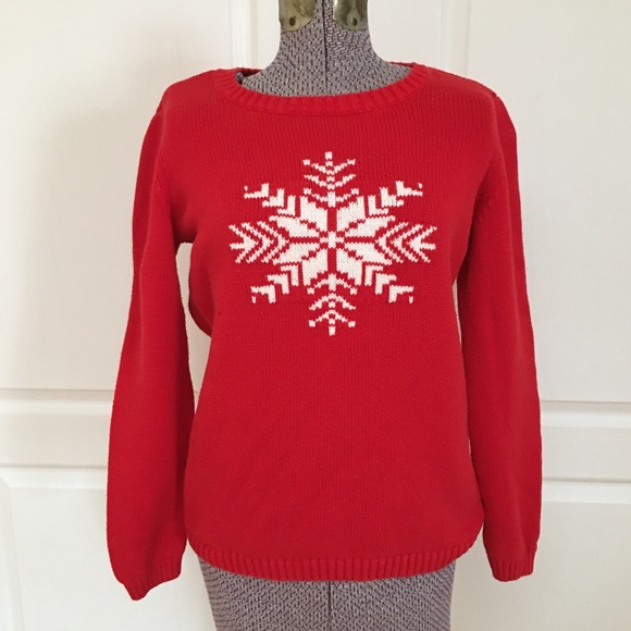 Tommy Hilfiger Christmas Snowflake Sweater